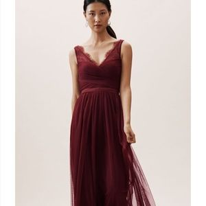 BHLDN Hithero Bridesmaid Dress (Black Cherry)